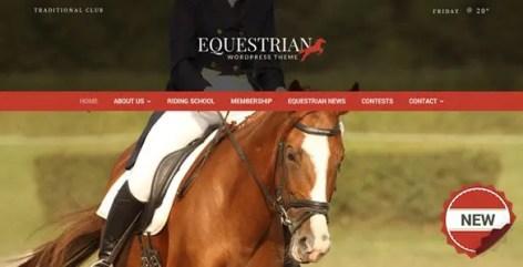 Equestrian - Horses & Stables WordPress Theme