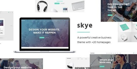Skye - A Contemporary Theme for Creative Business