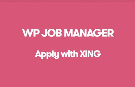 WP Job Manager Apply With Xing Addon