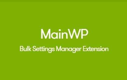 MainWP Bulk Settings Manager Extension