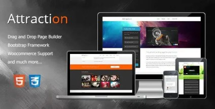Attraction - Responsive WordPress Landing Page Theme