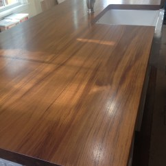 Kitchen Island Countertops Glass Cabinet Knobs Wood With Sinks Countertop