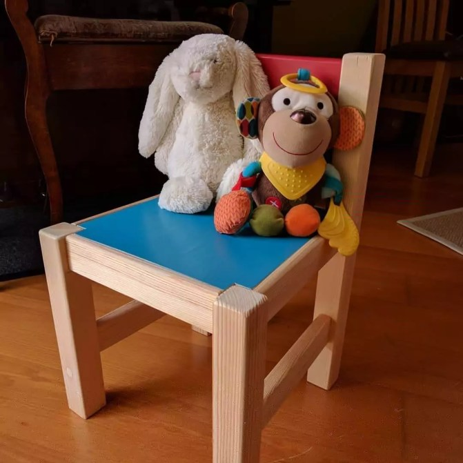 Kid's colourful chair