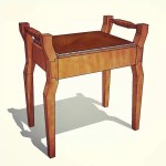 Art Deco Piano Stool
