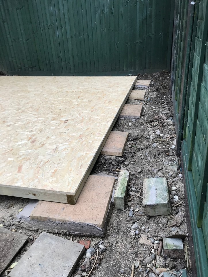 how to build your own shed - floor