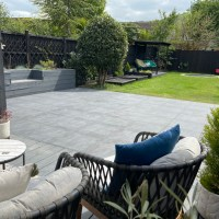 How to lay a porcelain tile patio outside