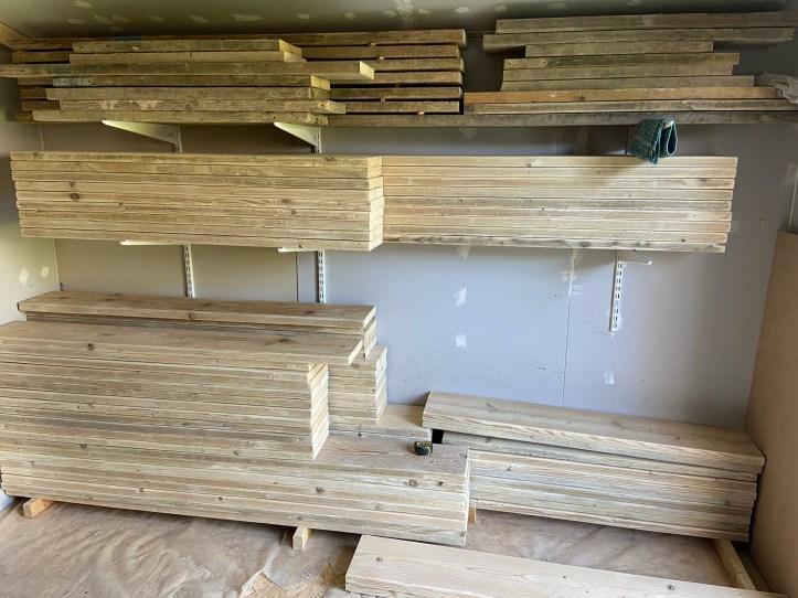 scaffold board storage