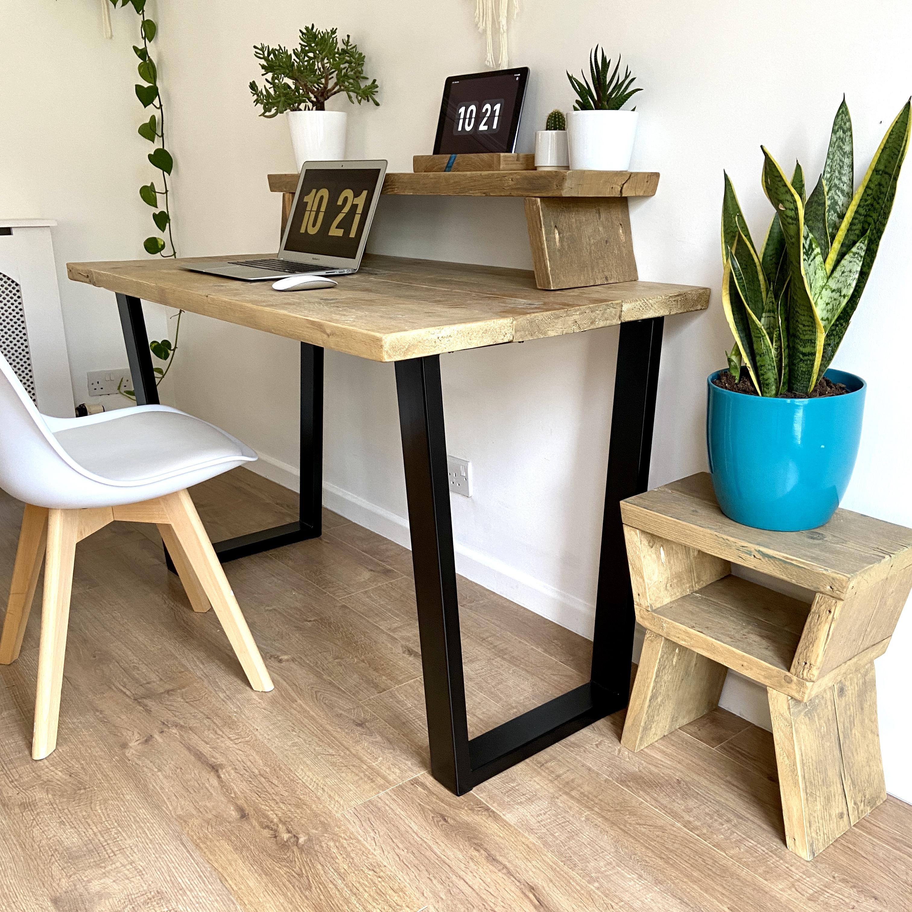 inverted trapezium leg desk