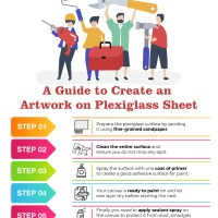 A step by step guide for painting on Plexiglass: how to add colour to acrylic sheets