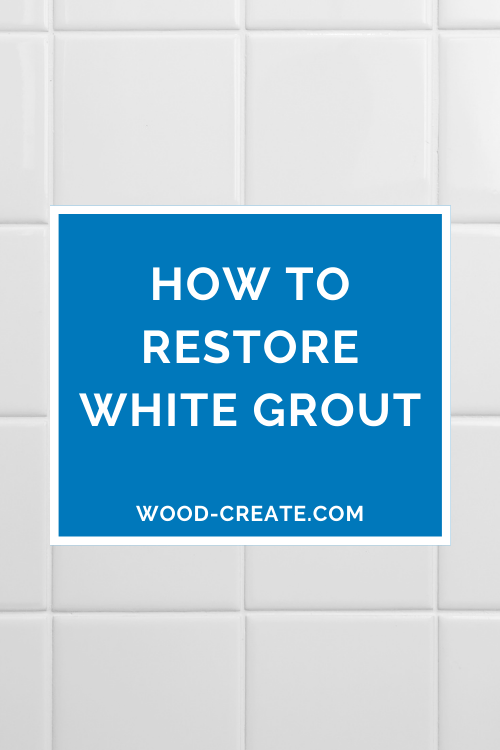 How to restore white grout