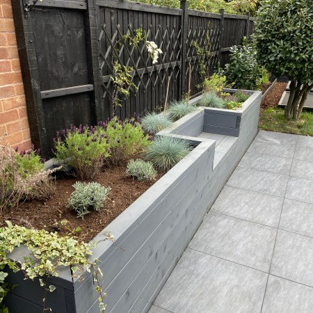 planter with seating
