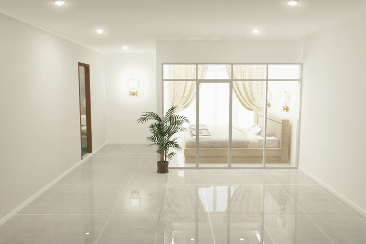 Spruce up your bedroom with tile flooring