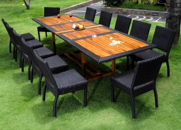 Table De Jardin Teck Et Resine | Jardin Table Basse En Teck Comforium