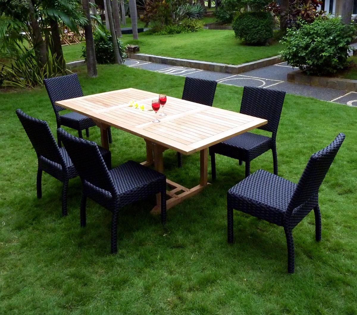 Tables Et Chaises De Jardin En Teck | Salon De Jardin En ...