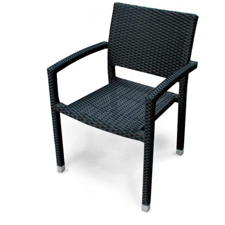 fauteuil de jardin en resine tressee modele palma