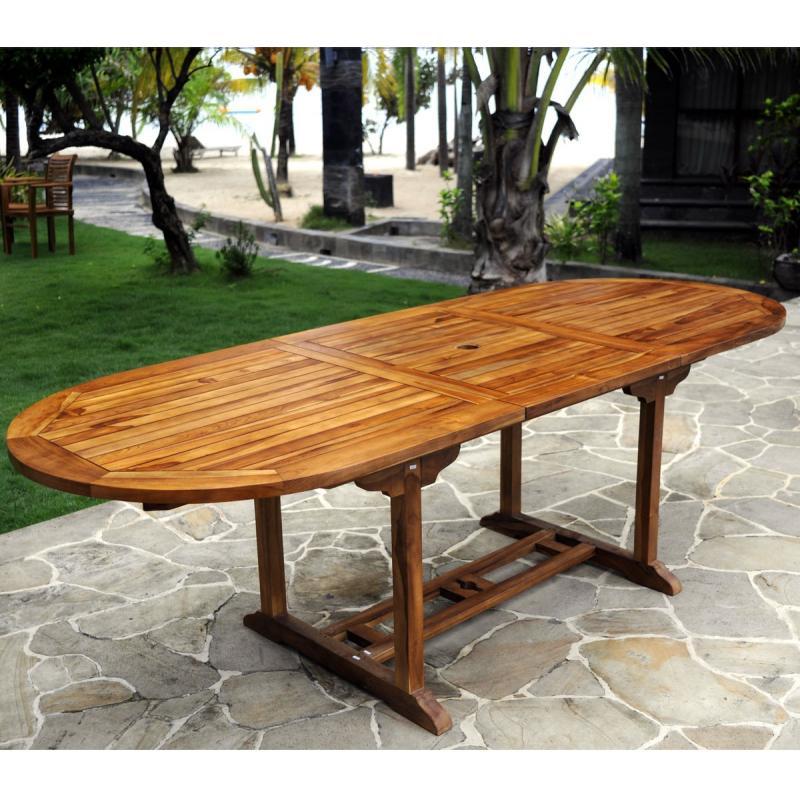 meuble en teck  table de jardin  rallonge papillon