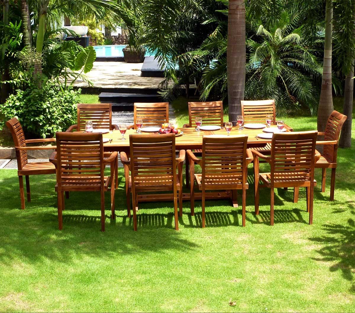 Table Jardin Teck Borneo | Table En Teck Haasi Ovale C Andl Jardin