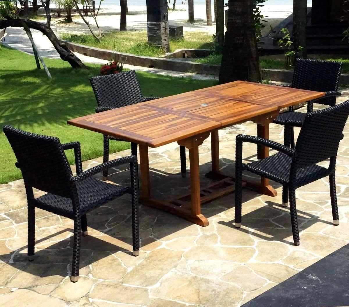 Table De Jardin Teck Entretien | Table De Jardin En Teck Huile Table ...