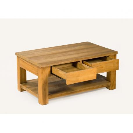 table basse en teck huyana de salon 100 x 60 cm