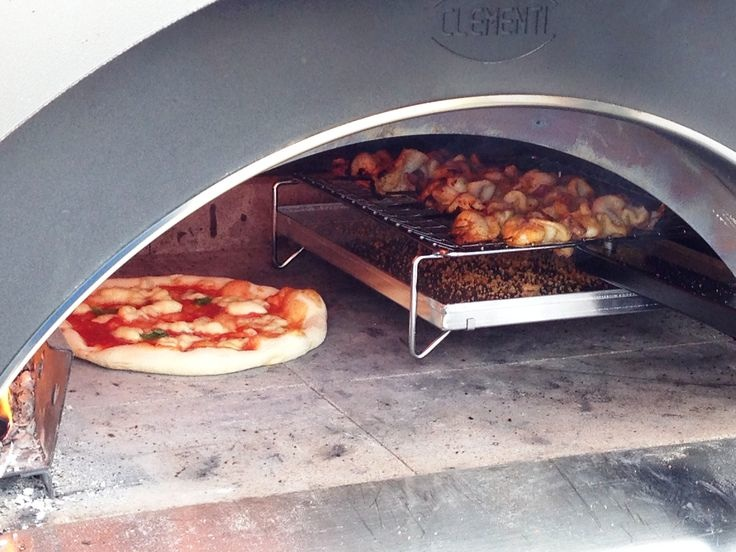 Tray in oven