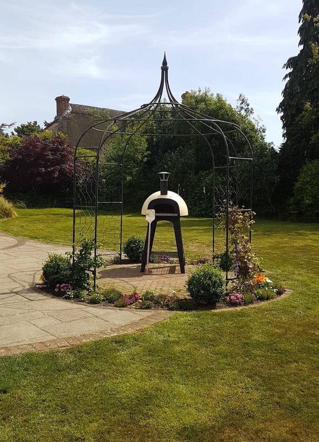 Neo in beautiful garden