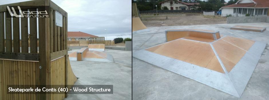 Wood Structure  Skatepark  Charpente  Mobilier