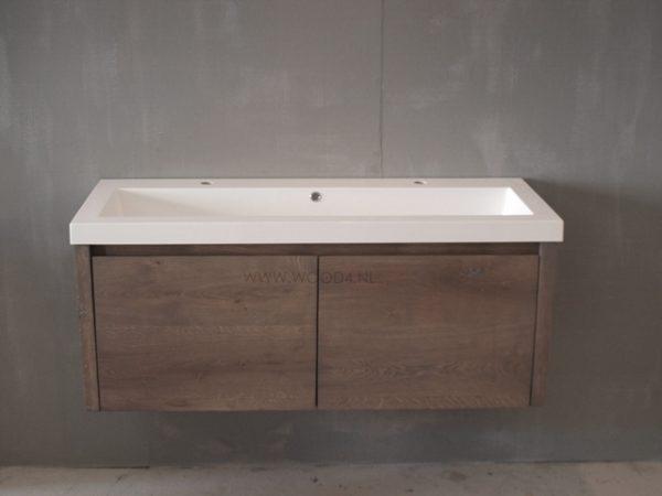 ≥ zwevend badkamermeubel van eiken lades ook steigerhout