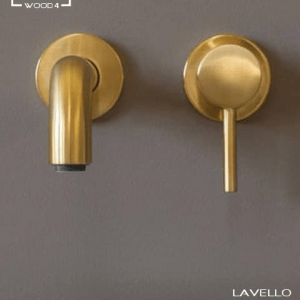 Lavello brushed Gold wastafel kraan
