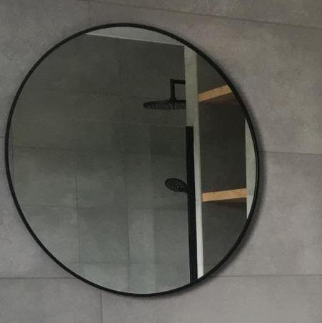 Fonkelnieuw Lavello ronde spiegel met zwarte metalen rand - WOOD4 eiken AH-17