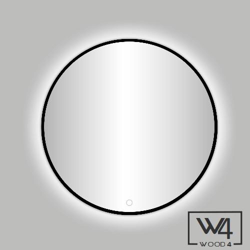 Ongebruikt Lavello ronde spiegel met zwarte rand - LED verlichting - WOOD4 NY-47