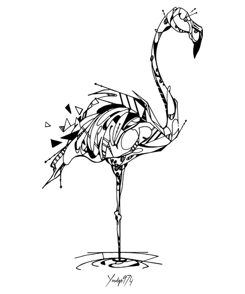 dessin flamand rose