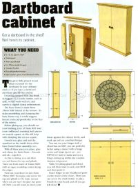 Dartboard Cabinet Plans  WoodArchivist
