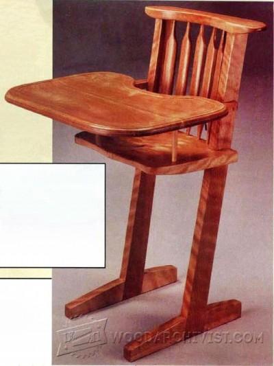 baby rocker chair office chairs dallas wooden high plans • woodarchivist