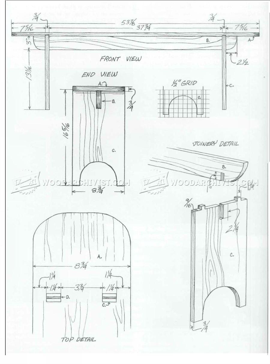 Four-Board Bench Plans • WoodArchivist