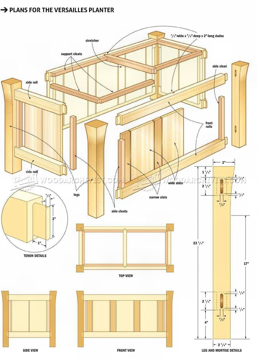 Versailles Planter Plans  WoodArchivist