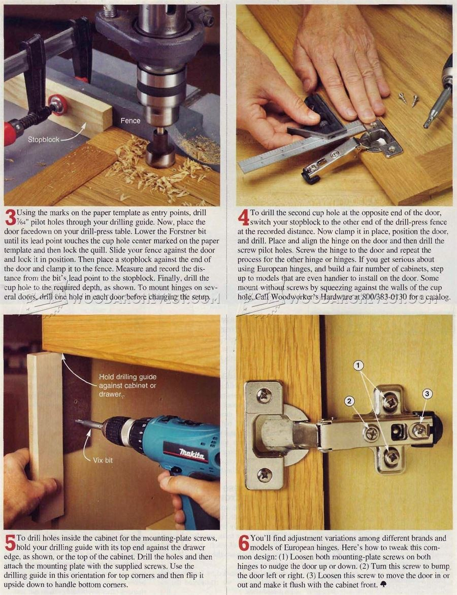 How To Install Concealed Hinges