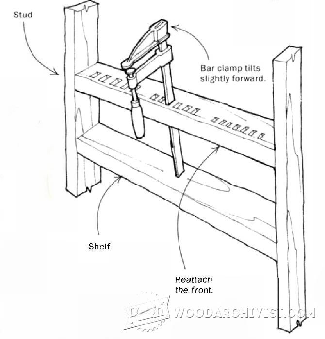 F-Clamp Storage Rack • WoodArchivist