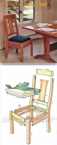 Cherry Dining Chair Plans  WoodArchivist