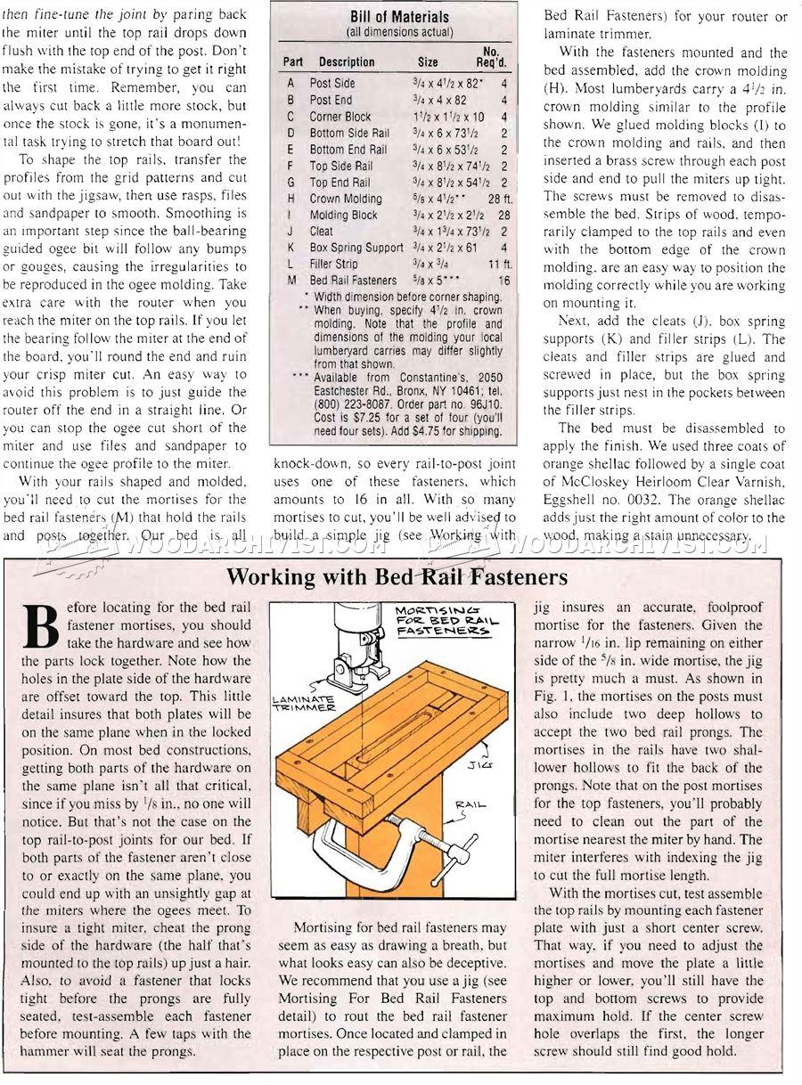 Four Poster Bed Plans WoodArchivist