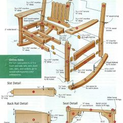 Adirondack Chair Blueprints Wicker Outdoor Dining Chairs Melbourne Arts & Crafts Rocking Plan • Woodarchivist