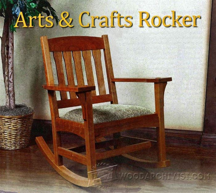 arts and crafts chairs swivel chair next & rocking plan • woodarchivist