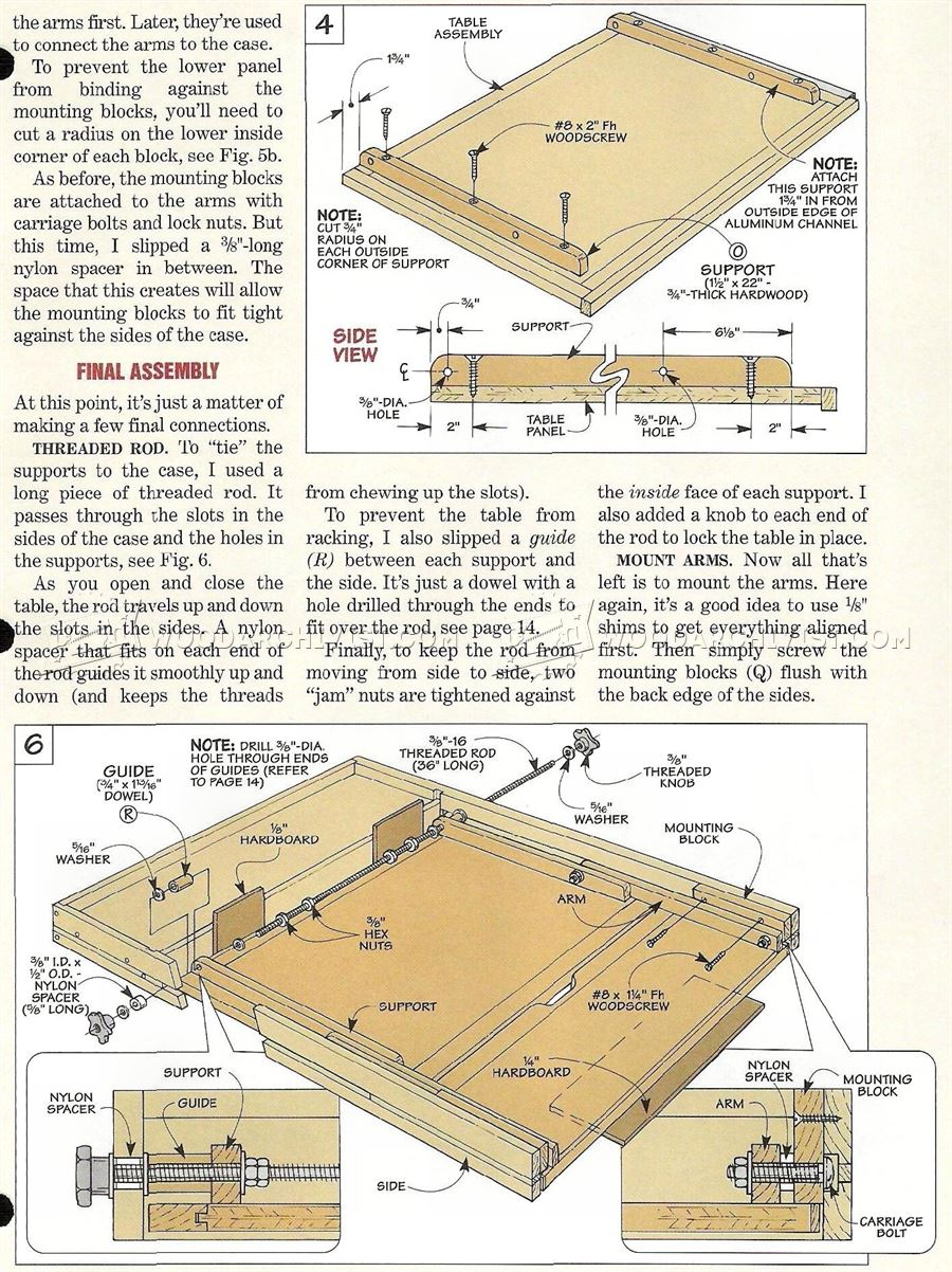 FoldDown Drafting Table Plans  WoodArchivist