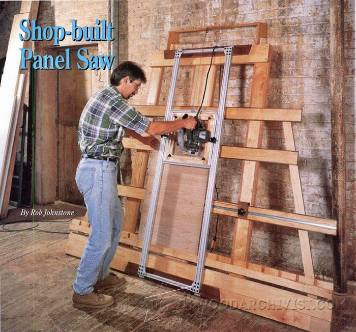 Vertical Panel Saw Plans  WoodArchivist