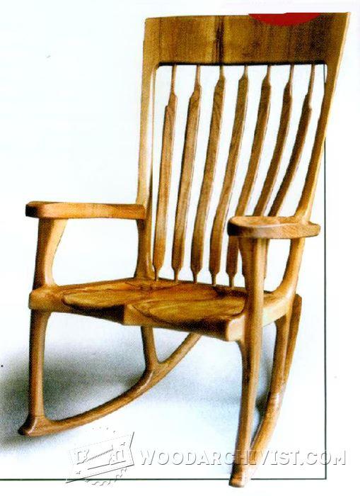 oak rocking chair plans covers kijiji calgary classic • woodarchivist