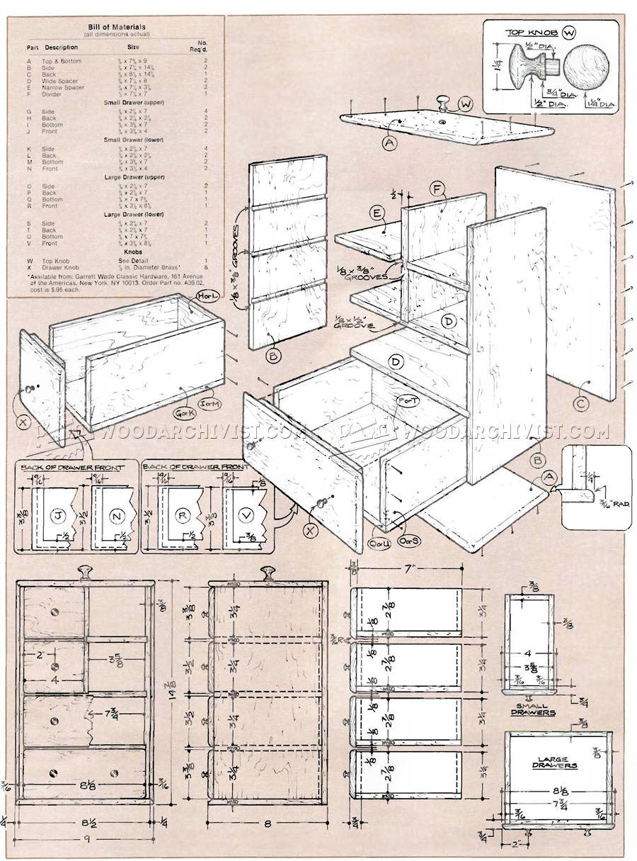 Shaker Sewing Box Plans WoodArchivist