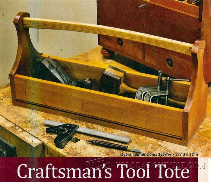 Tool Tote Plans  WoodArchivist