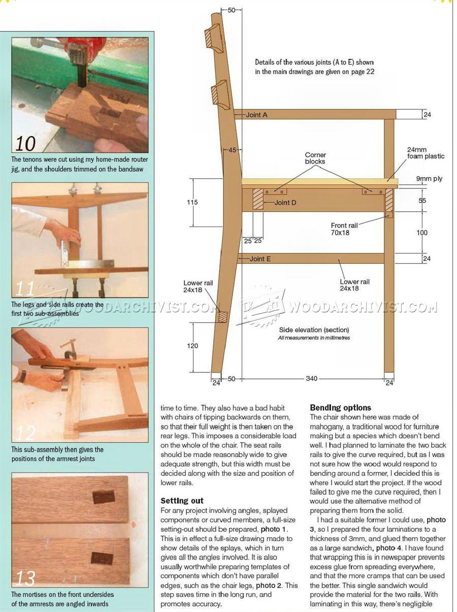 Mahogany Carver Chair Plans Woodarchivist