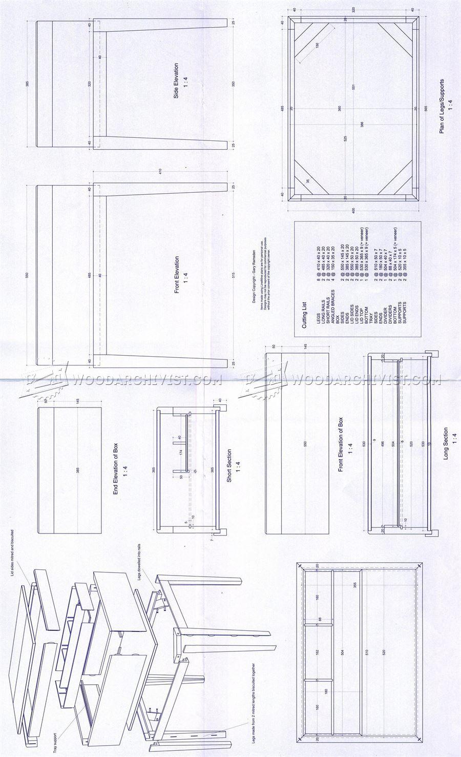 Sewing Box Plans • WoodArchivist