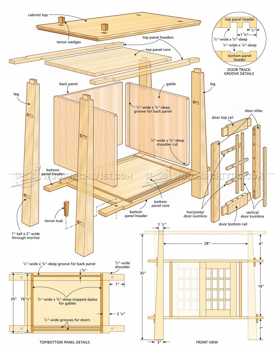 Japanese Cabinet Plans  WoodArchivist