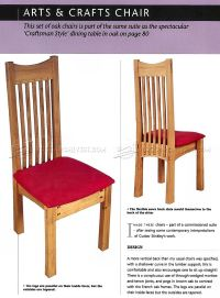 Arts and Crafts Chair Plans  WoodArchivist